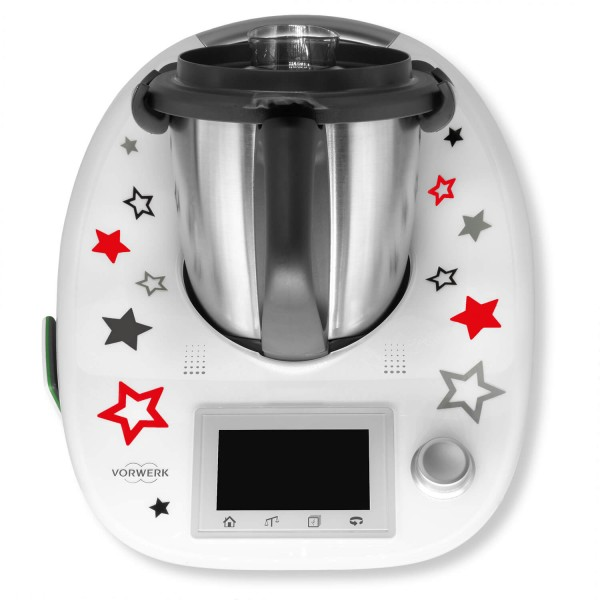 "Thermomix® Sticker Rot ""Sternentanz"""