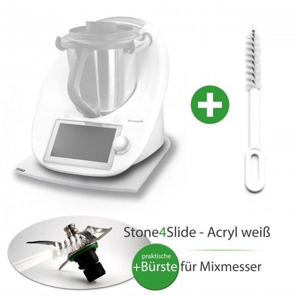 Stone4Slide® Gleitbrett aus Acryl *Weiß* für Tm6/Tm5/Tm31 + GRATIS Mixmesser-Bürste